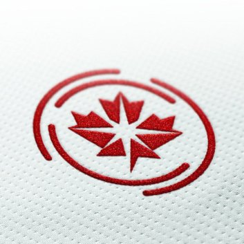 CPL logo red on fabric